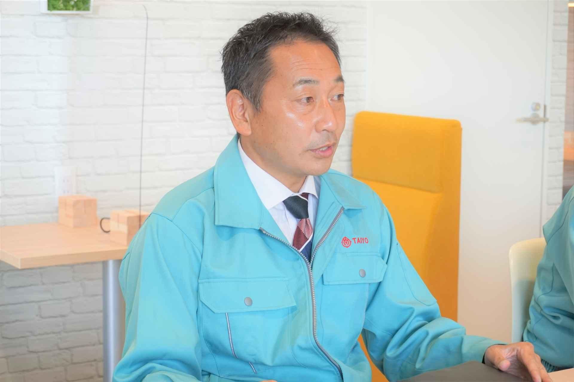取締役 システム設計部長 資材部長  田中 祐司 氏